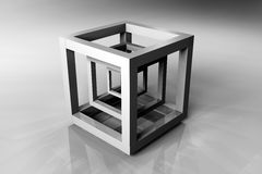 Geometric cube Stock Photography