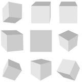 Geometric cube Stock Photo