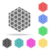 Geometric cube icon. Elements in multi colored icons for mobile concept and web apps. Icons for website design and development, ap. P development on white Royalty Free Stock Photo