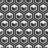 Geometric cube seamless pattern.Fashion graphic design.Vector illustration. Background design. Modern stylish abstract texture. Te Stock Image