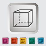 Geometric cube. Single icon Vector illustration Royalty Free Stock Photos
