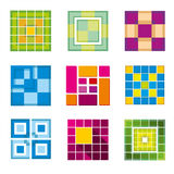 Geometric cube, square shapes for logo Royalty Free Stock Photos