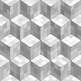 Geometric Cubes Seamless Pattern. Black and white geometric cubes seamless pattern royalty free illustration