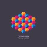 Geometric cubic isometric logo or emblem. Stock Photography