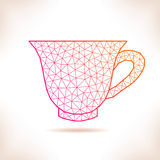 Geometric cup. Stock Photo