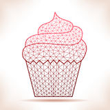 Geometric cupcake. Stock Images