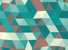 Geometric cyan and brown lowpoly background Stock Photos