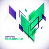 Geometric 3D abstract background. 3D geometric abstract background vector Illustration Stock Photos