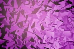Geometric 3D Background. Purple Geometric 3D Background. Geometric Pattern Backdrop. 3D Illustration Royalty Free Stock Photos