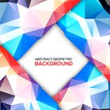 Geometric 3D background. 3D geometric background Vector illustration Royalty Free Stock Photography