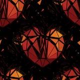 Geometric 3d Broken heart. Stock Images