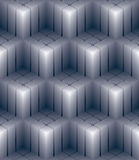 Geometric 3d decorative wallpaper, abstract squared seamless pat Royalty Free Stock Image