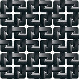 Geometric 3d grating wallpaper, abstract intertwined seamless pa Royalty Free Stock Images