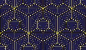 Geometric 3d lines abstract seamless pattern, vector background. Technology style engineering line drawing endless illustration. Usable for fabric, wallpaper Royalty Free Stock Photography