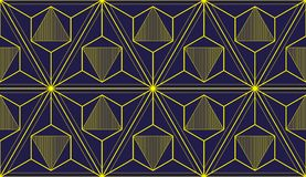 Geometric 3d lines abstract seamless pattern, vector background. stock illustration