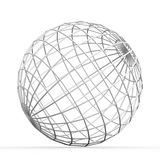 Geometric 3D object on white. Mathematical construction Stock Photos