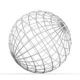 Geometric 3D object on white Stock Photos