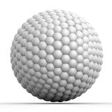 Geometric 3D object on white Stock Photography