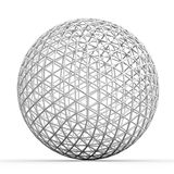 Geometric 3D object on white. Mathematical construction Royalty Free Stock Photo
