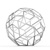 Geometric 3D object on white. Mathematical construction Royalty Free Stock Photography