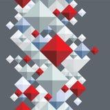 Geometric 3d seamless background. Stock Photo