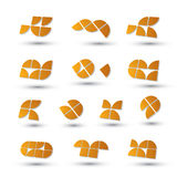 Geometric 3d simple symbols set. Geometric 3d simple symbols set, abstract vector abstract icons Stock Photos