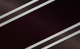 Geometric dark mesh background with strips of light metallic hue with rivets, frame. Geometric abstract dark mesh background with stripes of light metallic hue Royalty Free Stock Images