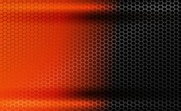 Geometric dark orange background with metal grille. Geometric dark orange background with metal grille and shadow as a frame royalty free illustration