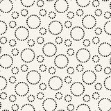 geometric dashed circles graphic print pattern stock illustration