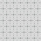 Geometric decor vector pattern, repeating square diamond shape, monochrome stylish. Pattern is on swatches panel royalty free illustration