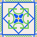 Geometric decoration for ceramic tile Stock Photography