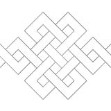 Geometric decoration (vector) Stock Photo