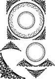 Geometric decorative elements Stock Image