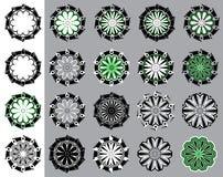 Geometric decorative floral ornate  illustration Stock Photo