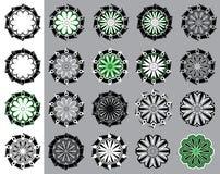 Geometric decorative floral ornate  illustration Stock Photos