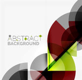 Geometric design abstract background - circles Royalty Free Stock Photography