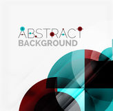 Geometric design abstract background - circles Royalty Free Stock Photos