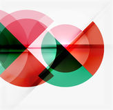 Geometric design abstract background - circles Stock Photos