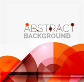 Geometric design abstract background - circles Stock Photo
