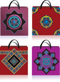 Geometric design , bags Royalty Free Stock Photos