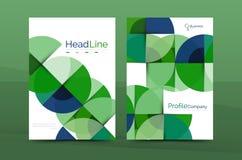 Geometric design, business annual report a4 brochure Stock Image