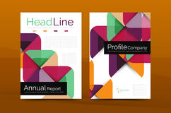 Geometric design, business annual report a4 brochure Royalty Free Stock Image