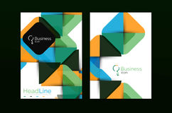 Geometric design, business annual report a4 brochure Stock Photography
