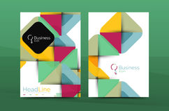 Geometric design, business annual report a4 brochure Stock Images