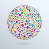Geometric Design Element Isolated 3d Sphere of Colorful Gradient. Circles. Bright Rainbow Ball Royalty Free Stock Image