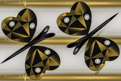 Geometric design in the form of two butterflies Stock Photo