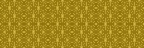 geometric design of gold for pattern and background, illus Royalty Free Stock Photos