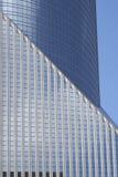 Geometric Design of Modern Banking Architecture Royalty Free Stock Photo