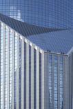 Geometric Design of Modern Banking Architecture Stock Photo