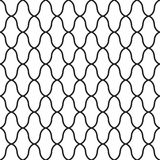 Geometric design seamless pattern. Black line. Vector illustration isolated on white background Stock Photos